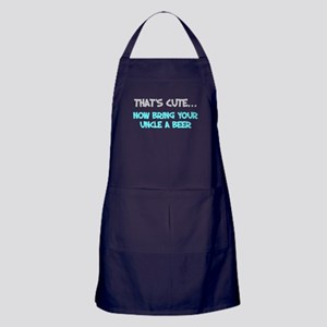 That's cute bring uncle beer Apron (dark)